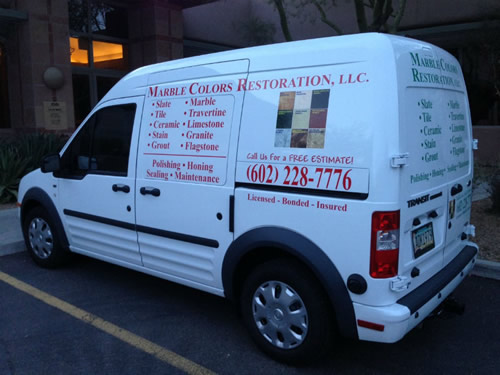 Marble Colors Restoration Van